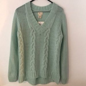 Andrea Jovine Cable Knit Sweater - Seamist